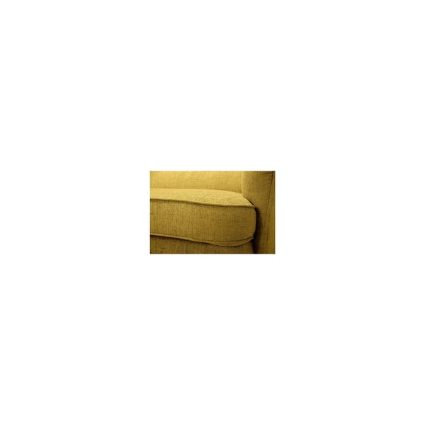 Żółta sofa trzyosobowa Vivonita Fifties