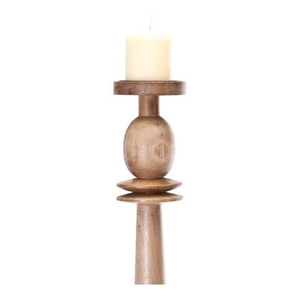 Drewniany świecznik NORR11 Ida, 95 cm