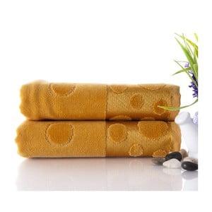 Zestaw 2 ręczników Tropical Mustard, 50x90 cm