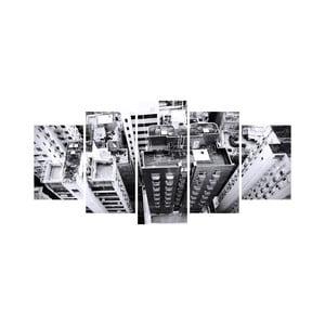 Wieloczęściowy obraz Black&White no. 17, 100x50 cm