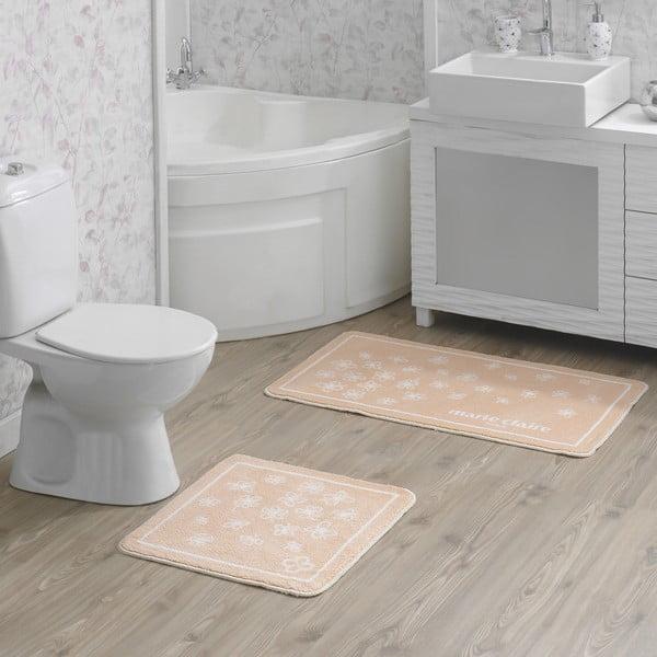 Zestaw 2 dywaników łazienkowych v w łososiowym kolorze Breeze
