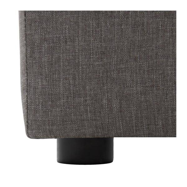 Szara trzyosobowa sofa modułowa Vivonita Cube