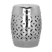 Srebrny stolik ceramiczny Safavieh Cyprus