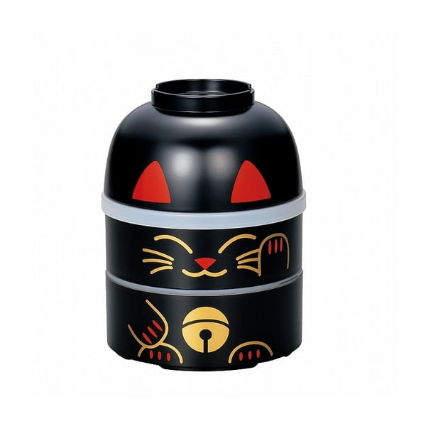 Dziecięce pudełko na drugie śniadanie Kokeshi Cat, 850 ml