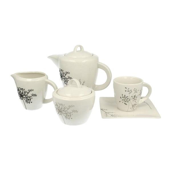 Porcelanowy zestaw kawowy 15-częściowy Duo Gift Fino, 170 ml