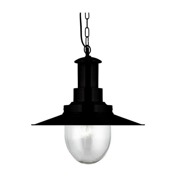 Lampa wisząca Searchlight Fisherman Shiny, czarna