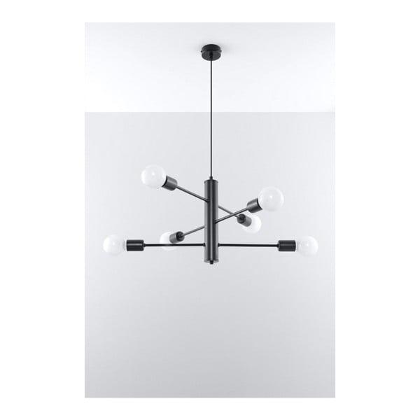 Czarna lampa wisząca Nice Lamps Donato 6