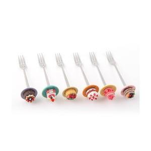 Zestaw 4 widelczyków deserowych Na deser