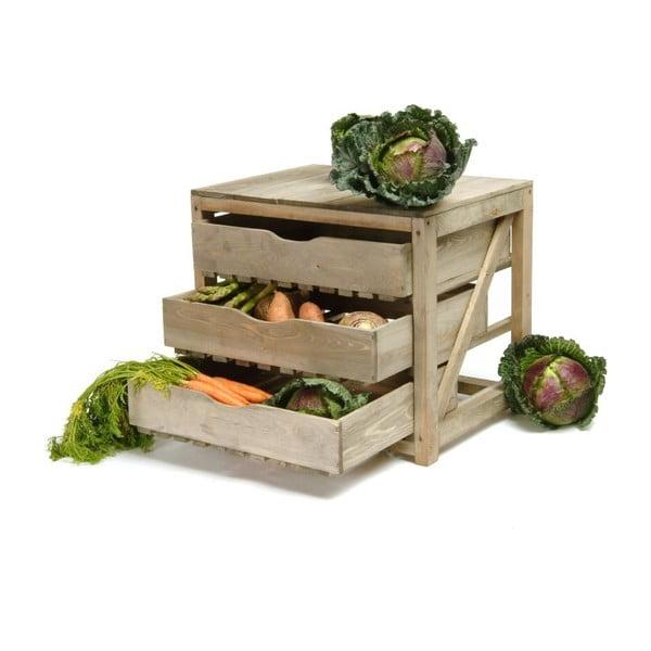 Skrzynka z 3 szufladami na warzywa Garden Trading Garden