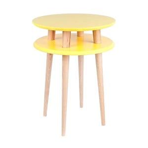 Żółty stolik Ragaba UFO, ⌀ 45 cm