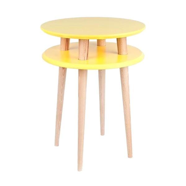 Żółty stolik Ragaba UFO, Ø 45 cm