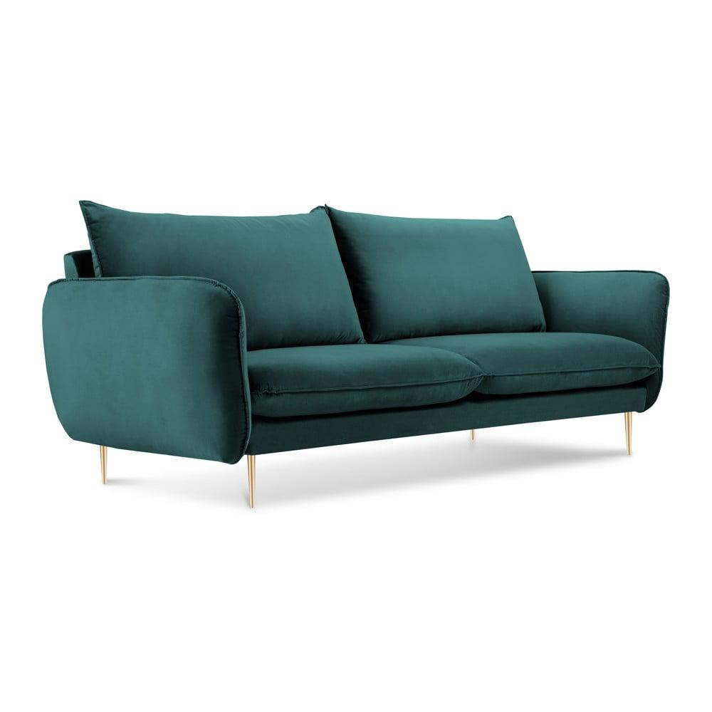 Morska sofa z aksamitnym obiciem Cosmopolitan Design Florence