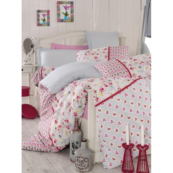 Różowa pościel na łóżko dwuosobowe Love Colors Emma, 200 x 220 cm