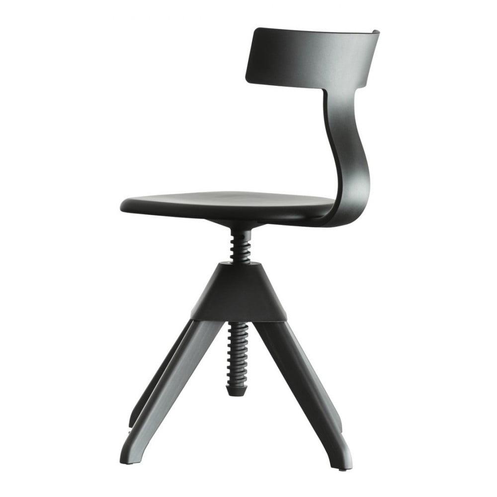 Czarne krzesło biurowe Magis Tuffy