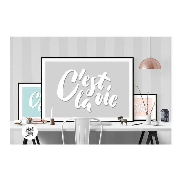 Plakat C'est La Vie Grey, A2