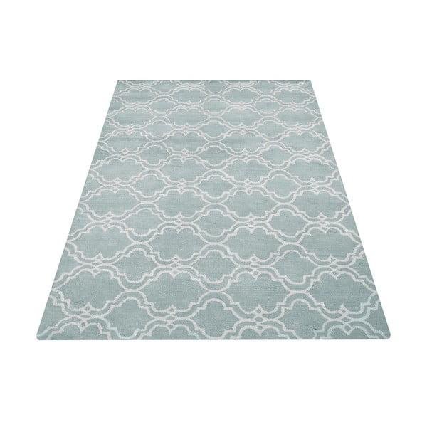 Jasnoniebieski dywan wełniany Bakero Riviera, 122x183cm