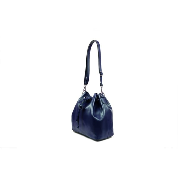 Skórzana torebka Farah, niebieska