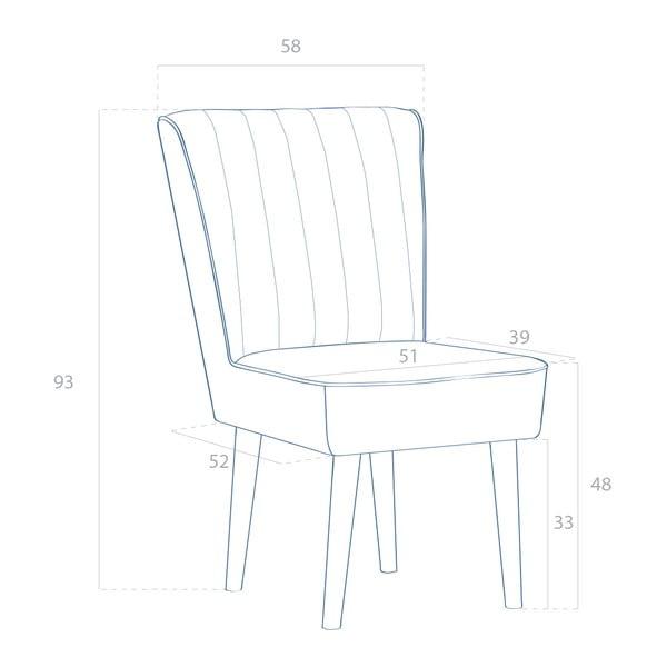 Turkusowe krzesło tapicerowane Vivonita Leila