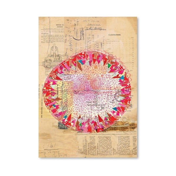 Plakat Circle Collage, 30x42 cm