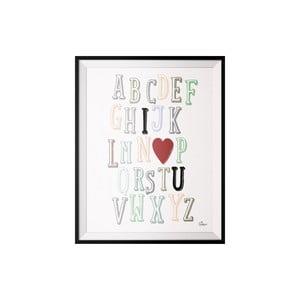 Plakat ABC, 40x50 cm