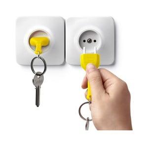 Zawieszka na klucze QUALY Unplug, żółta