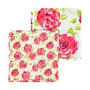 Zestaw 4 różowych serwetek Ragged Rose Natalie