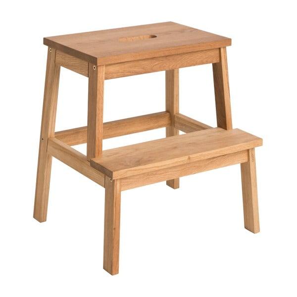Stołek/schodki z drewna dębowego Rowico Nanna
