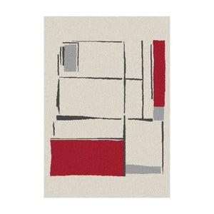 Biało-czerwony dywan Universal Nature, 160x230cm