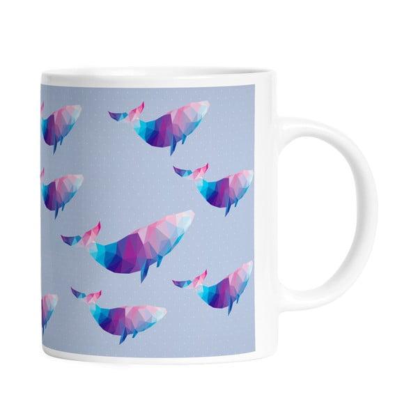 Kubek ceramiczny Origami Whales, 330 ml