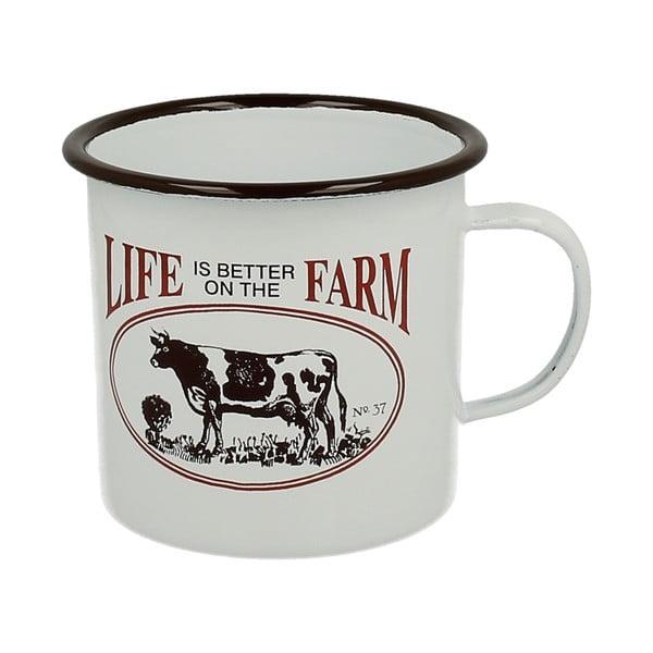 Emaliowany kubek Cow Farm