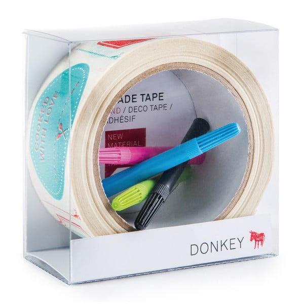 Taśma samoprzylepna z pisakami  Donkey Creative Lab Tape Gallery
