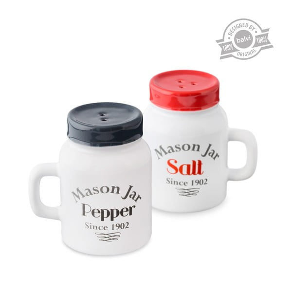 Zestaw solniczka i pieprzniczka J-Me Mason Jar