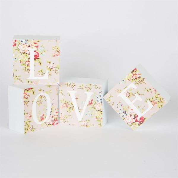 Zestaw 4 kusů krychlí s písmeny Sass & Belle LOVE