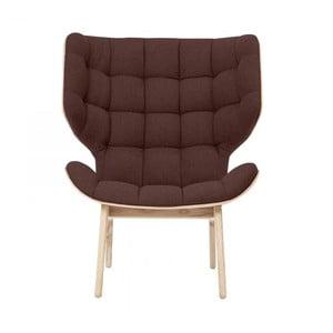Ciemnobrązowy fotel NORR11 Mammoth Fluffy