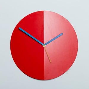 Zegar ścienny Mountain Fold, czerwony