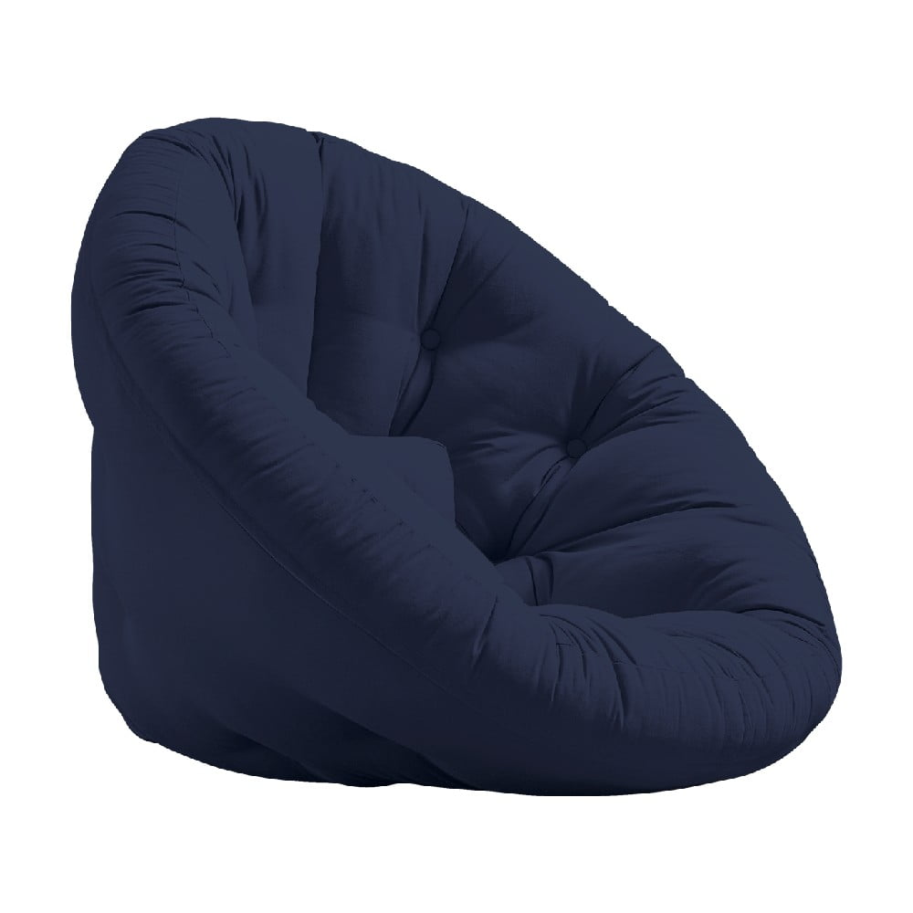 Rozkładany fotel z ciemnoniebieskim obiciem Karup Design Nido