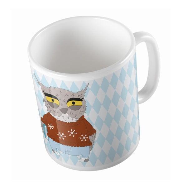Ceramiczny kubek Angry Owl, 330 ml