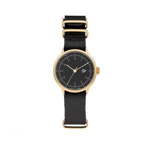 Zegarek z czarnym paskiem i złoto-czarną tarczą Cheapo Harold Mini