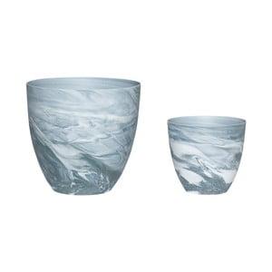 Zestaw 2 świeczników porcelanowych Hübsch Aeqor