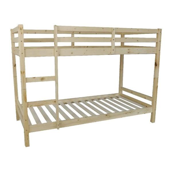 Dziecięce łóżko piętrowe Pine Bunk, 198x97x142 cm