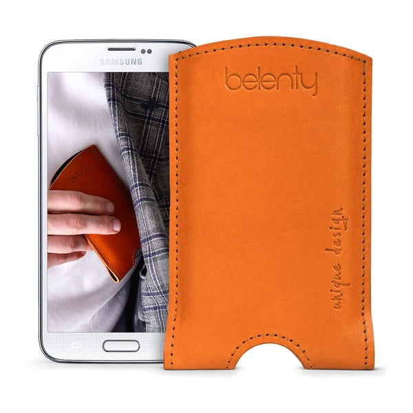 Skórzane etui na Samsung Galaxy S5 Cognac