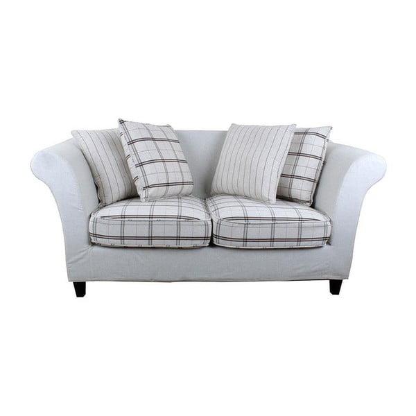 Sofa dla dwojga Beige Chequer
