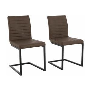 Zestaw 2 ciemnobrązowych krzeseł Støraa Sandra