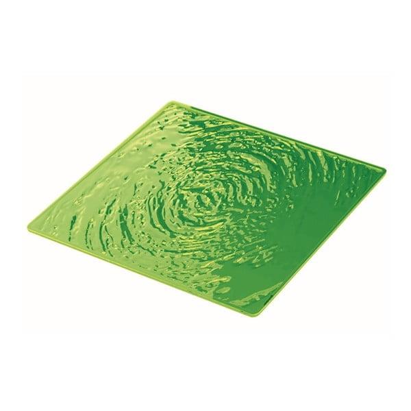 Zielony talerz Fratelli Guzzini Aqua