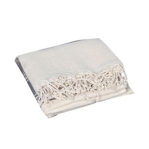 Szary ręcznik hammam Veronica Grey, 90x190cm