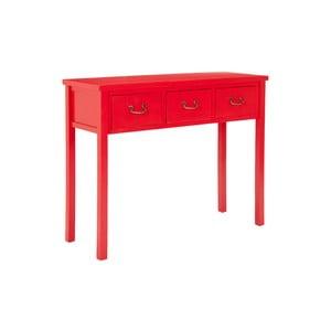 Czerwona konsola Safavieh Riley