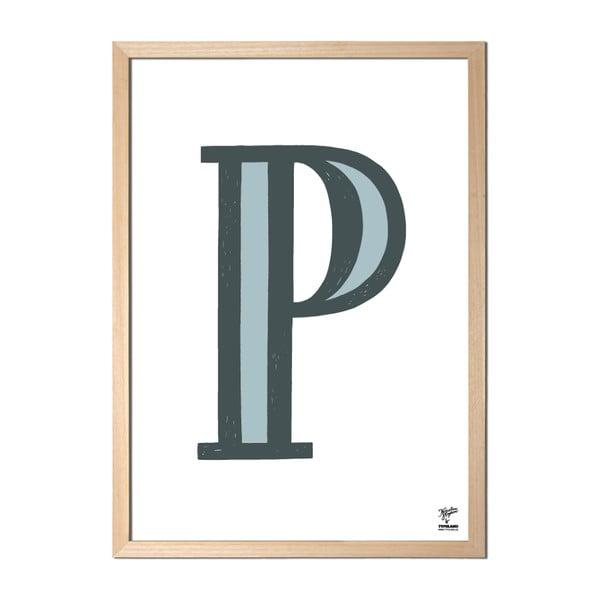 Plakat P designed by Karolina Stryková
