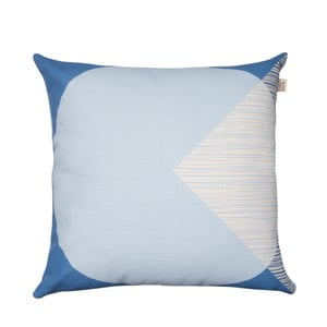 Jasnoniebieska poduszka z dwustronnym nadrukiem Orla Kiely OK Cushion, 45x45 cm