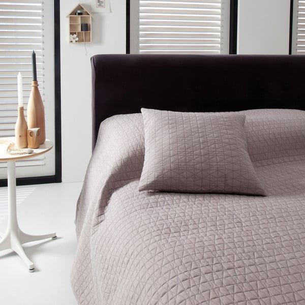 Narzuta na łóżko Shape Taupe, 270x270 cm