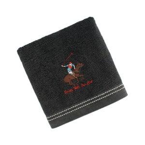 Ręcznik bawełniany BHPC z haftem 50x100 cm, czarny